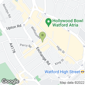 Map of Beavers in Watford, hertfordshire