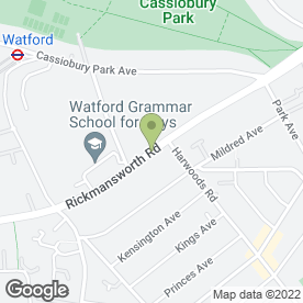 Map of Watford School of Music in Watford, hertfordshire