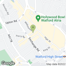 Map of The Flower Shop Watford in Watford, hertfordshire