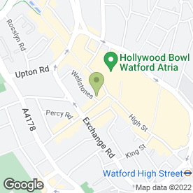Map of Ask Watford in Watford, hertfordshire