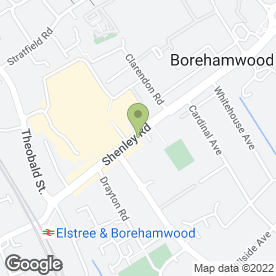 Map of Edwina Paul in Borehamwood, hertfordshire