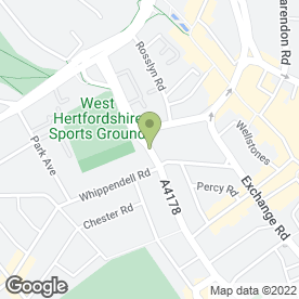 Map of Enterprise Rent-A-Car in Watford, hertfordshire