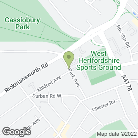 Map of Gymsnips Hairdressing in Watford, hertfordshire
