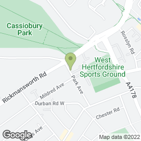 Map of Park Lodge Residential Home in Watford, hertfordshire