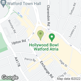 Map of Roosters Piri Piri in Watford, hertfordshire