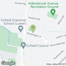 Map of Brows Beauty Spa & Mobile Beauty Therapist in Enfield, middlesex