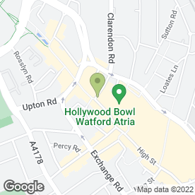 Map of Royal Bank of Scotland in Watford, hertfordshire
