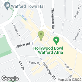 Map of BLUE CROSS DENTAL CARE in Watford, hertfordshire