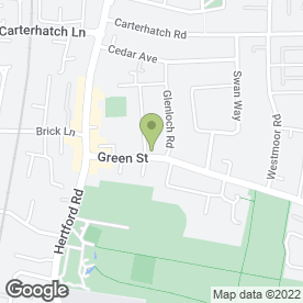 Map of Green Street Doctors Surgery in Enfield, middlesex
