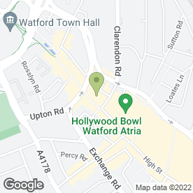 Map of The Spa at Presence in Watford, hertfordshire