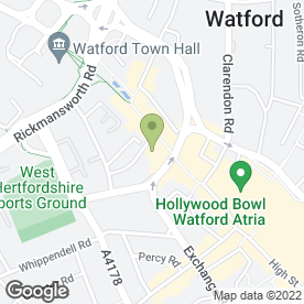 Map of The Langle Banqueting & Conferencence in Watford, hertfordshire
