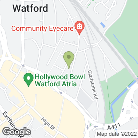 Map of Annie's & Johnnie's in Watford, hertfordshire