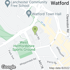 Map of Regency Residential Home in Watford, hertfordshire