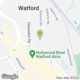 Map of Vocal Life Coach Singing School in Watford, hertfordshire