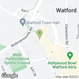 Map of Bellissimo Restaurant in Watford, hertfordshire