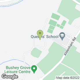 Map of Little Acorns Montessori School in Bushey, hertfordshire