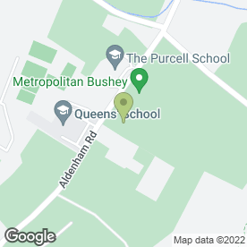 Map of Metropolitan Police Bushey Sports Club in Bushey, hertfordshire