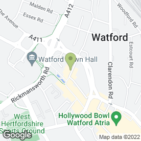Map of Barclays Bank plc in Watford, hertfordshire