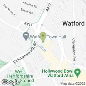 Map of Watford Office Options in Watford, hertfordshire
