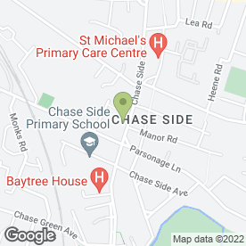 Map of Chaseside Filling Station in Enfield, middlesex