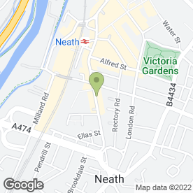 Map of The Practical Tailor in Neath, west glamorgan