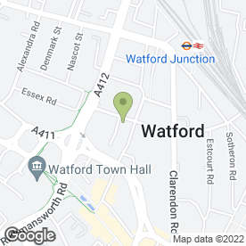 Map of Watford Plumbing & Heating - Boiler Breakdowns in Watford, hertfordshire