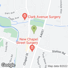 Map of RJD Jenkins Opticians in Pontnewydd, Cwmbran, gwent