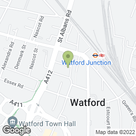 Map of Bellerose in Watford, hertfordshire