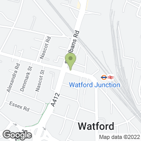 Map of Hancock Quins in Watford, hertfordshire
