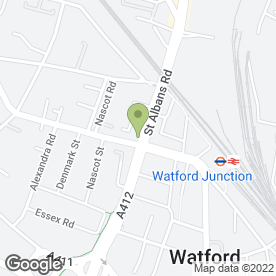 Map of Junction Cafe in Watford, hertfordshire