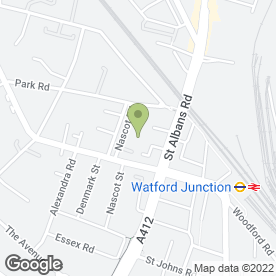 Map of Rutland Lodge in Watford, hertfordshire