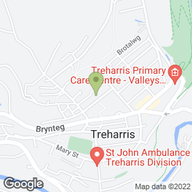 Map of Cylc Meithrin Treharris in Treharris, mid glamorgan