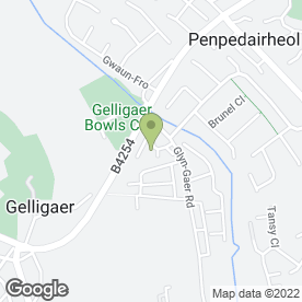 Map of XLR8 Wales Driving School in Hengoed, mid glamorgan