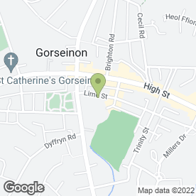Map of Gorseinon Cricket & Rugby Club in Gorseinon, Swansea, west glamorgan