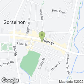 Map of PERSONALLY YOURS in Gorseinon, Swansea, west glamorgan