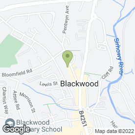 Map of Bosco Nero in Blackwood, gwent