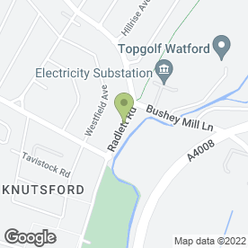 Map of Hillys Bouncers in Watford, hertfordshire