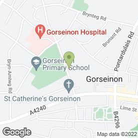 Map of Princess Street Surgery in Gorseinon, Swansea, west glamorgan