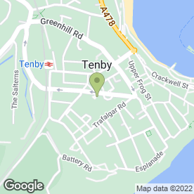 Map of Park Road Fish & Chip Shop in Tenby, dyfed