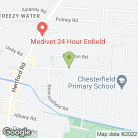 Map of Glaziers Enfield in Enfield, middlesex