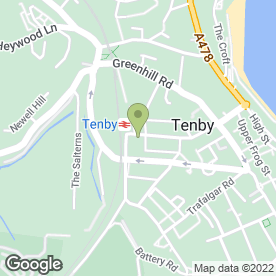 Map of Tenby Physiotherapy in Tenby, dyfed