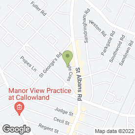 Map of Captain Jolly in Watford, hertfordshire