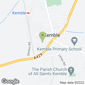 Map of The Sugar Box in Kemble, Cirencester, gloucestershire