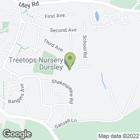 Map of Treetops Nursery in Dursley, gloucestershire