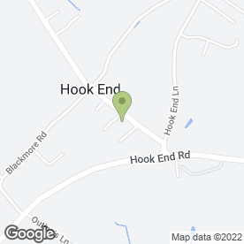 Map of P J Heating Services in Hook End, Brentwood, essex
