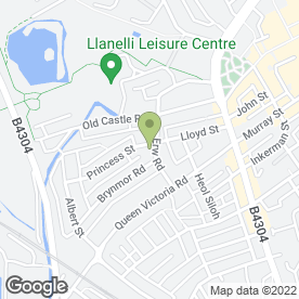 Map of Avenue Villas Surgery in Llanelli, dyfed