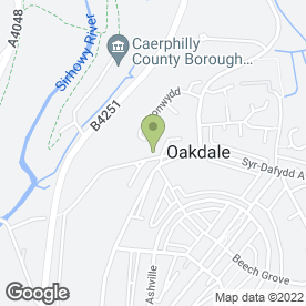 Map of Oakdale Manor in Oakdale, Blackwood, gwent