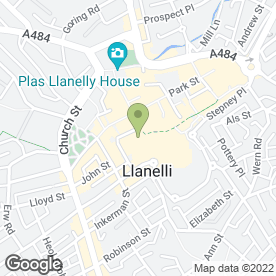 Map of N Type Solutions in Llanelli, dyfed