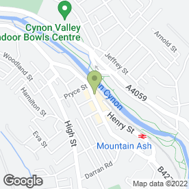 Map of Greggs in Mountain Ash, mid glamorgan