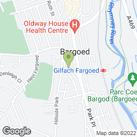 Map of Redz Parc Hotel in Bargoed, mid glamorgan